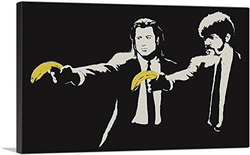 - ARTCANVAS Pulp Fiction Bananas Canvas Art Print by Banksy- 40