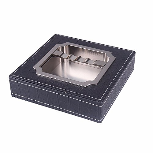 Ash Leather Bed - Leather Solid Wood Cigar Ashtray Creative Fashion Home Office Decorative Living Room Ashtray, Cortex