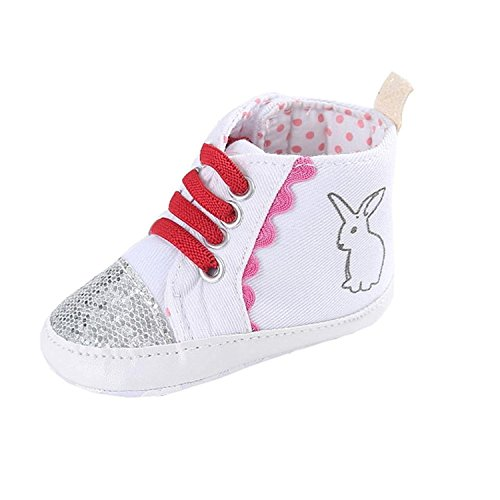 Efaster Baby Girl Canvas Shoe Heart shape Shoes Sneaker Anti-slip Sole Toddler (6~12 Month, - Coverall Canvas