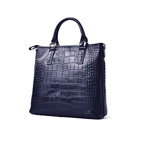 Top Handle Bag Ladies Top Handle Bags, KAMANDUO Women's Handbags Crocodile Top Satchel Bags for Women Handle Bag Blue ()