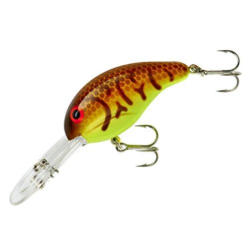 Bandit 341 300 Crankbait, 8-12-Feet, 1/4-Ounce, Crawfish/Chartreuse -