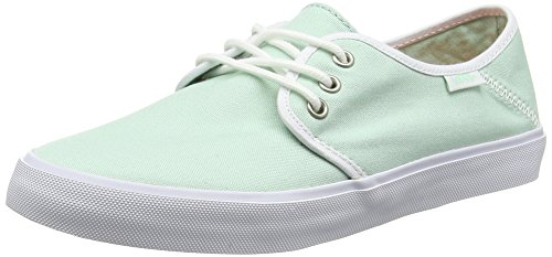 Vans Tazie SF Frauen Runde Zehe Canvas Blue Sneakers Grün