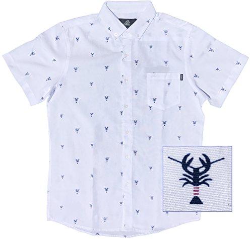 (M MOLOKAI SURF Molokai Shirts (Lobsters (White),)