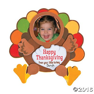 Thanksgiving Turkey Picture Magnet Craft Kits - Includes 12 Individually Packaged Kits for $<!--$17.99-->