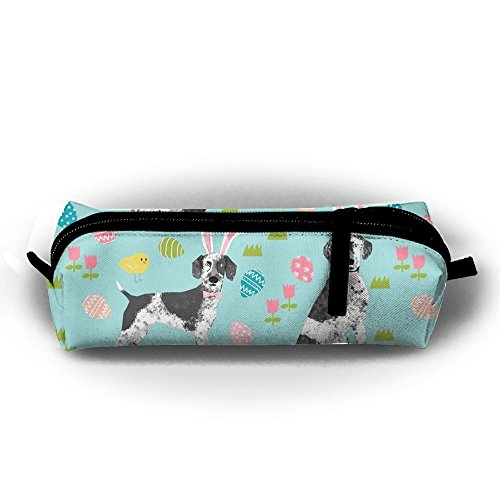 KIOT156 German Shorthair Mix Dog Breed Easter Cute Pen Case Pencil Bag Holder Makeup Cosmetic Pouch Bag
