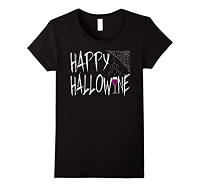 Funny Halloween T-shirt Happy Hallow Wine on October 31st Wi