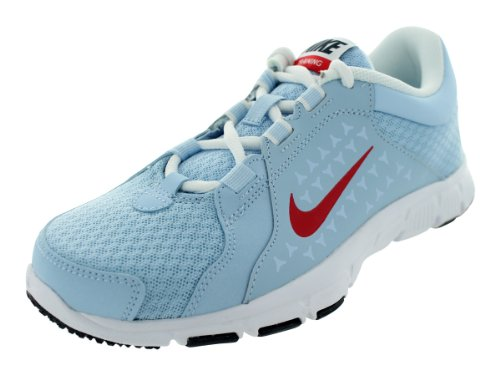 Nike Kids Flex Supreme Tr (GS/PS) Ice Blue/Hyper Red/White/Obsdn Training Shoes 5 Kids US (Nike Flex Supreme Tr 5 Training Shoe)