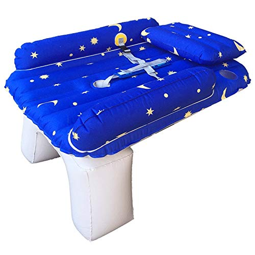 Car Inflatable Bed for Child Baby Car Inflatable Bed Travel Bed SUV Back Rear Mattress Sleeping Pad with Air Pump, Blue CIM0918 by ZCY-Auto Mattress