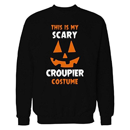 Costume De Croupier (This Is My Scary Croupier Costume Halloween Gift - Sweatshirt Black 3XL)