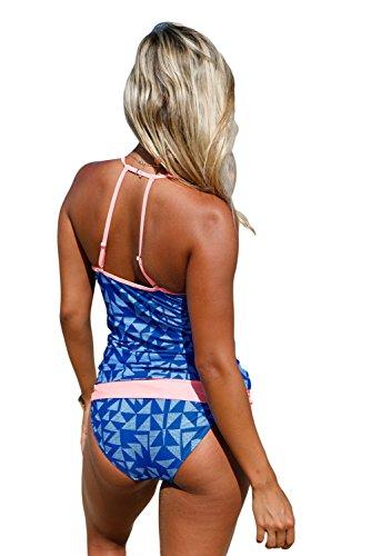 New Tuga Geo Fasciato 2PCS Tankini set bikini Swimsuit Swimwear estivo taglia UK 12EU 40