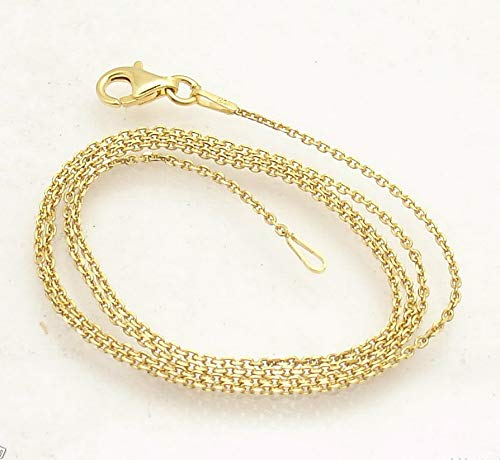 Hemau Cable Link Chain Necklace 14K Yellow Gold Clad 925 Sterling Silver | Model NCKLCS - 285 | 16