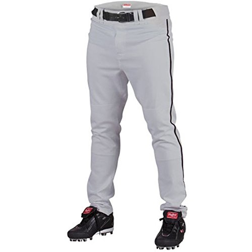 Rawlings Men's Baseball Pant (Blue Grey/Black, Medium)