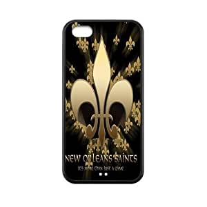 Customize New Orleans Saints NFL Back Case For Iphone 5/5S Cover JN5C-992