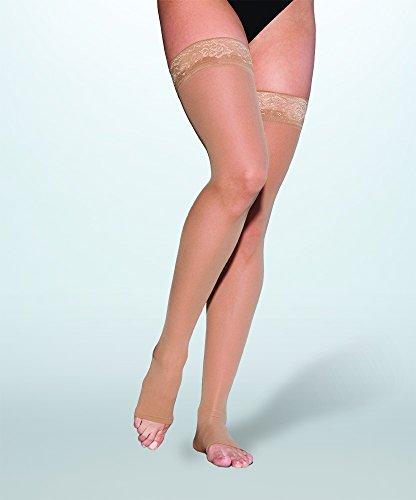 Sigvaris Women's EVERSHEER 780 Open Toe Thigh High w/Grip...