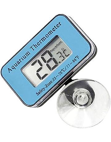Malloom ermómetro de acuario LCD digital con termómetro de agua del refrigerador de sonda Digital LCD