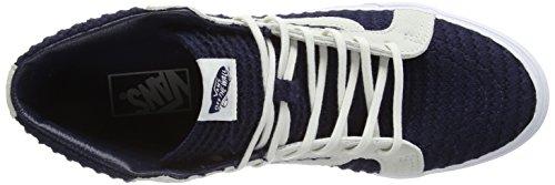 hi – Unisex Sk8 da Adulto Slim Ginnastica Navy Scarpe Vans White Suede Blu True Woven Blue 5nW0Y8q