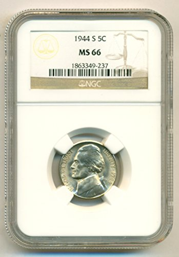 1944 S Jefferson Silver Nickel MS66 NGC
