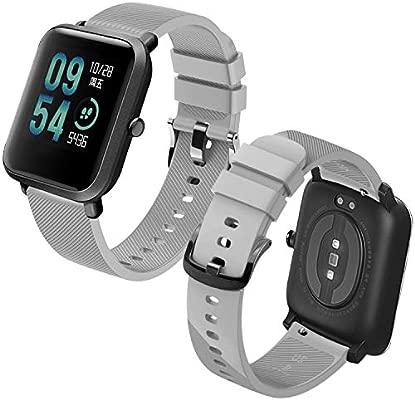 Th-some Correa para Amazfit Bip Impermeable Universal - Reemplazo de Pulsera Ajustable para Xiaomi Huami Amazfit Bip bit Lite Youth Watch, Gris Sin ...
