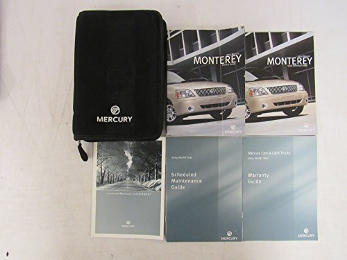 2004 Mercury Mountaineer Owners Manual with Case Book ()