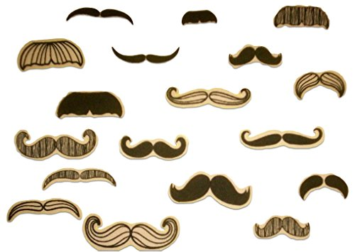 18-Count-Set-Custom-and-Unique-25-Inch-Silly-Cool-Mustache-Assortment-Iron-On-Embroidered-Applique-Patch-Black-Brown-Colored