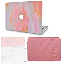 LuvCase 4 in 1 Laptop Case for MacBook Air 13 Inch A1466 / A1369 (No Touch ID)(2010-2017) Hard Shell Cover, Sleeve, Keyboard Cover & Screen Protector (Mist 13)