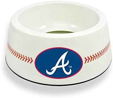 GameWear Atlanta Braves Classic Baseball Pet Bowl