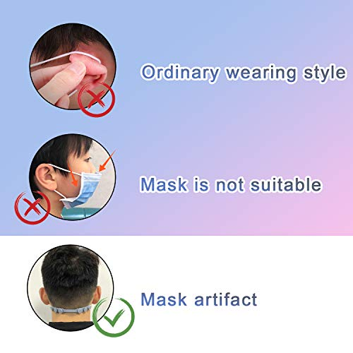 DALV Mask Strap Extenders Belt, 8PCS Adjustable Buckle Anti-Leak Silicone Mask Hooks for Relieving Ears' Pressure&Pain, Compapible with All Kinds of Mask