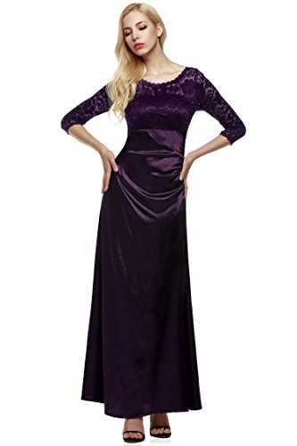 ANGVNS Evening Dress Women Long Sleeve Lace Dress Wedding for sale  Delivered anywhere in Canada