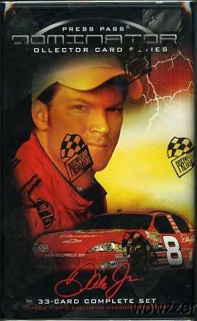 (2006 Press Pass Dale Earnhardt Jr DOMINATOR Sealed Tin-33 Cards Set+Jumbo)