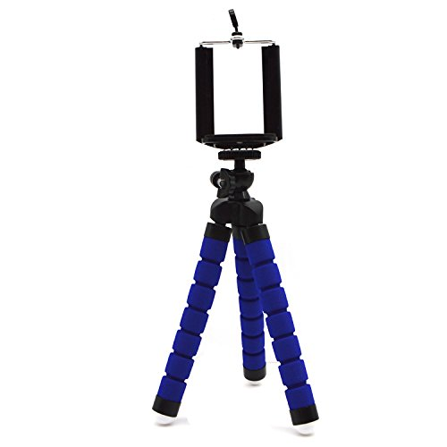 PerryLee Mini Tripod Stand with Flexible Legs Universal Octopus Mount for Smart Phone, Camera, DV,Projector (blue)