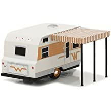 1964 Winnebago Travel Trailer 216 White and Gold 1/64 by Greenlight 34010 C