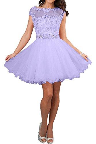 Linie mia La Lilac Jugendweihe Ballkleid Rock Kleider Braut Rosa Abendkleider Kurzes Damen Festkleider Spitze A 4nUap