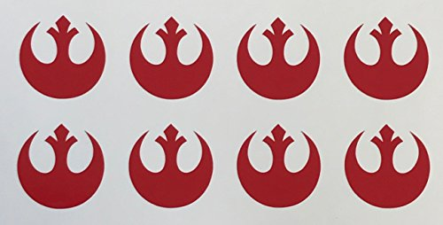 (C60569 (Red) small RC Rebel alliance (set of 8) 1x1inch)