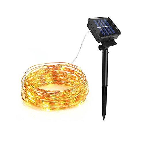Liibot 2017 Halloween Christmas Festival Solar Light String 100LED Copper Lamp for Decoration Lantern Garden