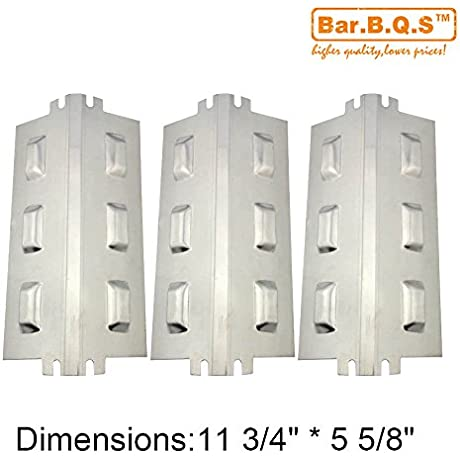 Bar B Q S 94631 3 Pack Replacement Stainless Steel Heat Plate Heat Shield Heat Tent Burner Cover Vaporizor Bar And Flavorizer Bar For Charbroil Kenmore And Others 11 3 4