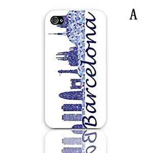 Barcelona Design Series Pattern Hard Case with 3-Pack Screen Protectors for iPhone 4/4S , E