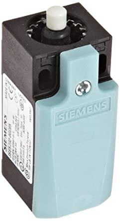 Siemens 3SE5 232-0GC05 Mechanical Position Switch, Complete Unit, Plastic Enclosure, 31mm Width, Rounded PTFE Plunger, Snap Action Contacts, 2mm Contacts Gap, 1 NO + 1 NC Contacts