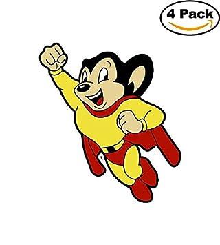 amazon com mighty mouse vinyl decal sticker comic superhero 4 stickers