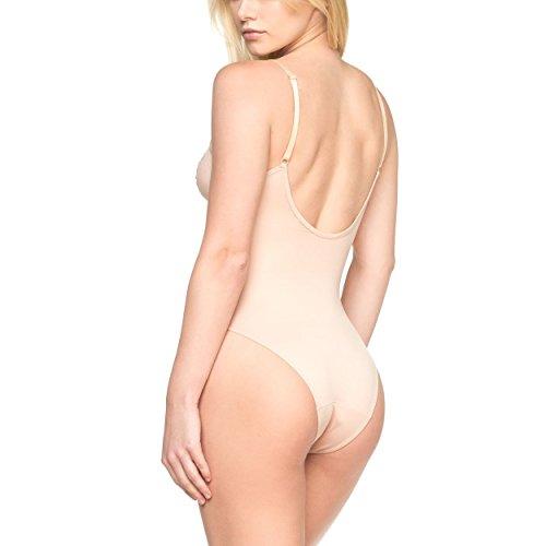 LastFor1 Women's Bodysuit Plus Size Underwire Comfort Soft Adjustable Everyday Body Briefer Tank Camisole Skin XXL (Spandex Underwire Camisole)
