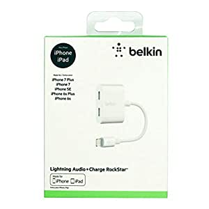 BELKIN 3.5 MM AUDIO +CHARGE ROCKSTAR,FOR IPHONE