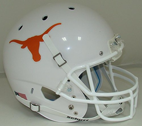 Schutt NCAA Texas Longhorns Replica XP Football Helmet, White/Orange Alt. 1