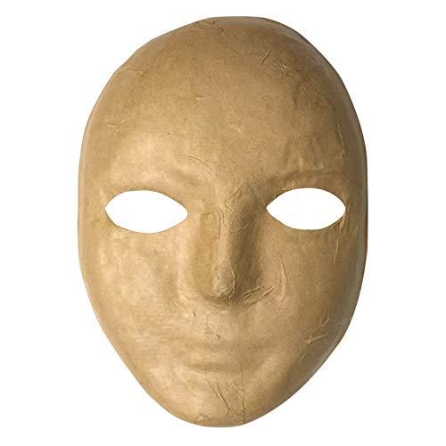 """Chenille Kraft CK-4190 Paper Mache Mask, 0.5"""" Height, 5.5"""" Wide, 8"""" Length"""