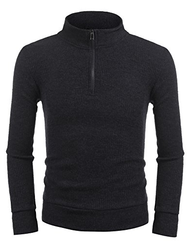 Zip Ribbed Pullover - 8