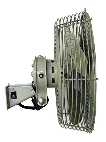 """TPI N12 Low Velocity Special Application Workstation Fan, 12"""" Size, 1/12 HP Motor, 0.6 Amps"""