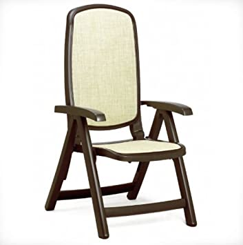 NARDI Two Pieces, 5-position Delta Reclining High Back Chair, Brown
