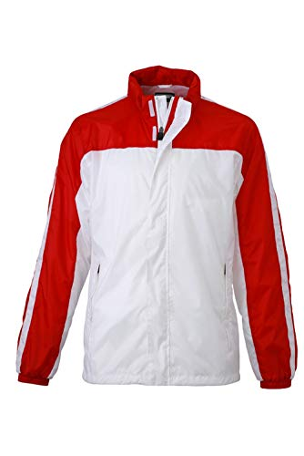 Funzionale Jacket Red Squadra Team white Impermeabile E Giacca Weather HZnxq4wqz