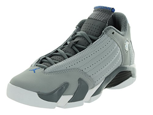 new product 98afc 62f4e Nike Jordan Kids Air Jordan 14 Retro BG Wolf Grey Sprt Blue Cl Gry Wht Basketball  Shoe 7 Kids US - Buy Online in Oman.   Shoes Products in Oman - See Prices  ...