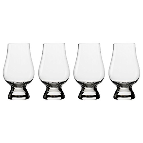 Glencairn Single Malt Scotch Whisky Glass Gift Set - Set of 4 Glasses