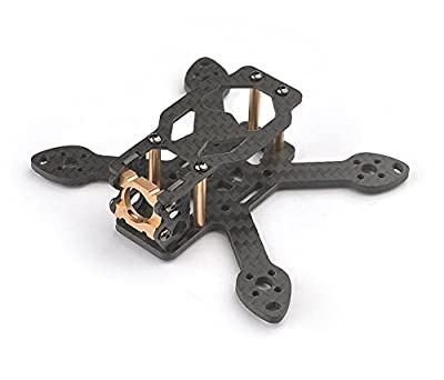 Usmile Happymodel Toad 90 90mm 2.5mm thickness Micro Carbon Fiber Quadcopter Frame Kit quadcopter suit for 1104 7500KV brushless motor 2035 props 2s 500mah battery 2020mm Flight controller