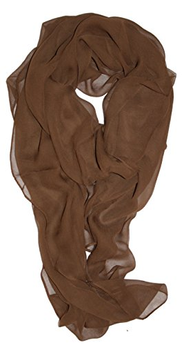 TC Silk Blend Oblong Chiffon Scarf in So - Brown Viscose Scarf Shopping Results